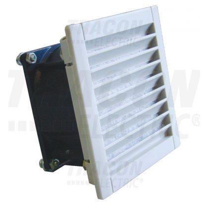 TRACON V43 Szellőztető ventillátor szűrőbetéttel 230V 50/60Hz, 43/55 m3/h, IP54