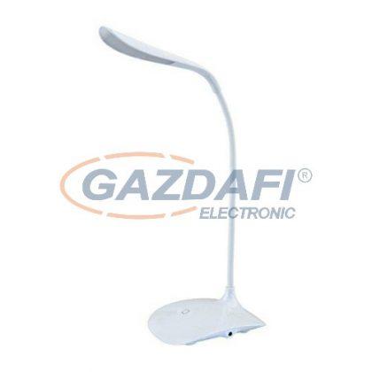 LED asztali lámpa, 3,6W, USB, dimmelhető, fehér