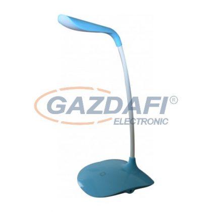 LED asztali lámpa, 3,6W, USB, dimmelhető, kék