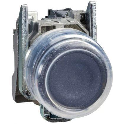 SCHNEIDER XB4BP21EX ATEX D nyomógomb, fém, 1NO, fekete, átlátszó védőspkával