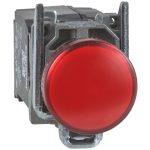 SCHNEIDER XB4BVM4 LED-es jelzőlámpa, piros, 230V
