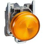 SCHNEIDER XB4BVM5EX ATEX D LED jelzőlámpa, fém, sárga, 240VAC