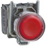 SCHNEIDER XB4BW34B5 LED-es világító nyomógomb, piros, 24V
