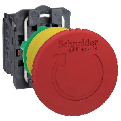 SCHNEIDER XB5AS9442 Vészgomb D:40mm Műanyag KR Piros