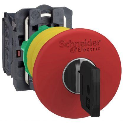 SCHNEIDER XB5AS9444S40 Vészgomb D:40mm Műanyag KR Piros