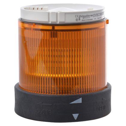 SCHNEIDER XVBC5B5 XVB fényoszlop fénymodul, LED, villogó, narancs, 24VAC/DC