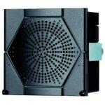 SCHNEIDER XVS96BMBP Sziréna, ajtóra építhető 96x96, többszólamú, 4 csatornás, PNP, fekete, 12-24VDC