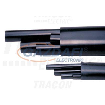 TRACON ZSRSET4-70 Zsugorcső készlet, darabolt, közepesfalú, 4 érhez, gyantás 4×70mm2, (4×30/8mm, l=250mm)+(1×63/19mm, L=1000mm)