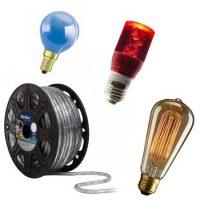 Dekor fényforrások, fénytömlők