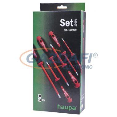 HAUPA 101999 VDE Csavarhúzókészlet 2 komponensű nyéllel 1000V (6db)