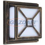RÁBALUX 8190 Darius kültéri fali lámpa E27 2x60W alumínium műanyag. Antik arany IP44 230V
